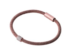 Links of London Sterling Silver Rose Star Dust Bead Bracelet (S/M) 5010.2502