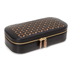 WOLF Chloé Black Zip Jewellery Case 301202