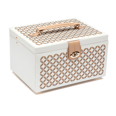 WOLF Chloé Cream Medium Jewellery Box & Travel Case 301053
