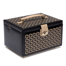 WOLF Chloé Black Medium Jewellery Box & Travel Case 301002