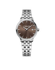 Raymond Weil Toccata Brown Dial Stainless Steel Womens Quartz Watch 29mm 5988-ST-70001