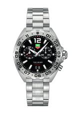 TAG Heuer Formula 1 Black Dial Alarm Stainless Steel Mens Quartz Alarm Watch WAZ111A.BA0875