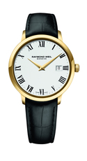 Raymond Weil Toccata White Dial PVD Gold Plated Mens Quartz Watch 39mm 5488-PC-00300