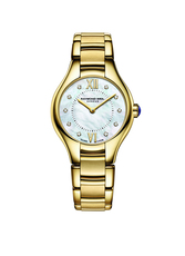 Raymond Weil Noemia Mother of Pearl Diamond Dot Dial PVD Gold Plated Womens Quartz Watch 24mm 5124-P-00985