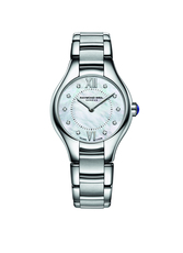 Raymond Weil Noemia Mother of Pearl Diamond Dot Dial Stainless Steel Womens Quartz Watch 24mm 5124-ST-00985