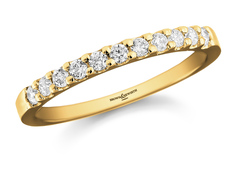 Brown & Newirth 18ct Gold 0.25ct Brilliant Cut Diamond Claw Set Half Eternity Ring HET717