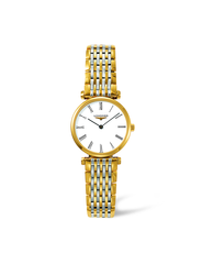 Longines La Grande Classique de Longines White Dial Two Tone Womens Quartz Watch L42092117