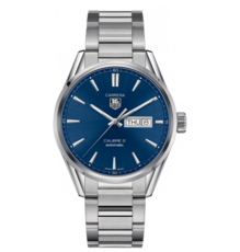 TAG Heuer Carrera Calibre 5 Blue Dial Automatic Day-Date Stainless Steel Mens Watch WAR201E.BA0723