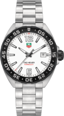 TAG Heuer Formula 1 White Dial Stainless Steel Mens Quartz Watch WAZ1111.BA0875