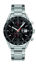 TAG Heuer Carrera Calibre 16 Black Dial Stainless Steel Mens Chronograph Watch CV201AK.BA0727