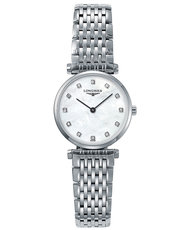 Longines La Grande Classique de Longines Mother of Pearl Diamond Set Dial Stainless Steel Womens Quartz Watch L42094876