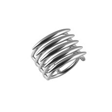 Shaun Leane Sterling Silver 5 Row Quill Ring (Size P) SLS558