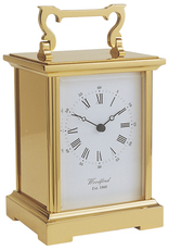 Woodford Brass Anglaise Grande Quartz Carriage Clock 1459