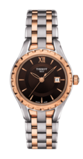 Tissot Lady Small Brown Dial Two Tone Womens Quartz Watch T0720102229800
