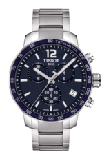 Tissot Quickster Blue Dial Stainless Steel Mens Quartz Chronograph Watch T0954171104700