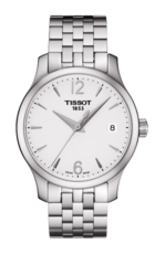 Tissot Tradition Lady Silver Dial Stainless Steel Womens Quartz Watch T0632101103700