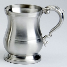 Pewter Satin/Brushed finish Georgian Style Pint Tankard 20oz / 568ml
