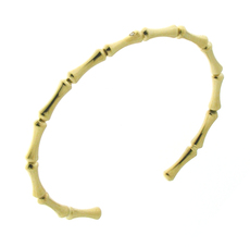 Chimento 18ct Yellow Gold Bamboo Regular Torque Bangle 1B05852B11180