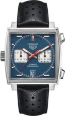 TAG Heuer Monaco Calibre 11 Steve McQueen Stainless Steel Mens Chronograph Watch CAW211P.FC6356