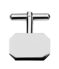 Sterling Silver Classic Rectangle Lozenge T-Bar Cufflinks 9239