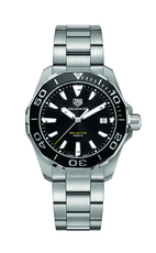 TAG Heuer Aquaracer Black Dial & Bezel Stainless Steel Mens Quartz Watch WAY111A.BA0928