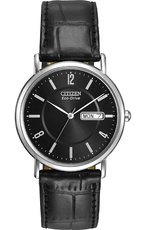 Citizen Eco-Drive Black Dial Stainless Steel Day-Date Mens Watch BM8240-03E