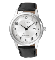 Citizen Eco-Drive Silver Dial Stainless Steel Mens Watch AW1231-07A