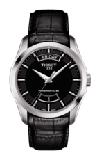 Tissot Couturier Black Dial Day-Date Stainless Steel Powermatic 80 Mens Watch T0354071605102
