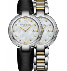 Raymond Weil Shine Diamond Set Mother of Pearl Dial Two Tone Womens Quartz Watch 1600-SPS-00995