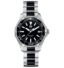TAG Heuer Aquaracer Lady Stainless Steel & Black Ceramic Diamond Set Womens Quartz Watch WAY131G.BA0913