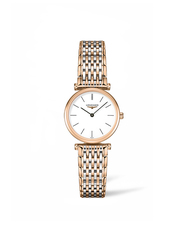 Longines La Grande Classique de Longines White Dial Rose Two Tone Womens Quartz Watch L42091927