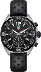 TAG Heuer Formula 1 Black Dial Chronograph Stainless Steel Rubber Strap Mens Quartz Watch CAZ1010.FT8024