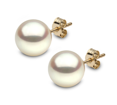 YOKO London 18ct Gold Cultured Freshwater Pearl Stud Earrings