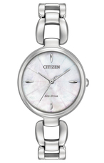 Citizen Eco-Drive Citizen L Mother of Pearl Dial Stainless Steel Watch EM0420-54D