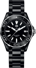 TAG Heuer Aquaracer Lady Black Ceramic Black Dial Womens Quartz Watch WAY1390.BH0716