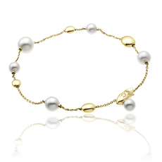 Chimento 18ct Yellow Gold Armillas Acqua Pearl Bracelet 1B01461PP1190