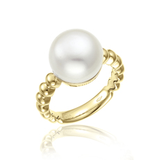 Chimento 18ct Yellow Gold Armillas Acqua Pearl Ring 1A01461PP1140