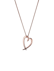 Shaun Leane Rose Vermeil Signature Heart Pendant Necklace SLS586