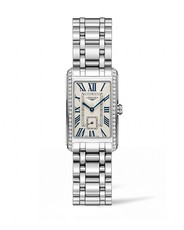 Longines DolceVita Silver Dial Diamond Set Stainless Steel Womens Quartz Watch L55120716