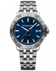 Raymond Weil Tango 300 Blue Dial Stainless Steel Mens Quartz Watch 8160-ST2-50001