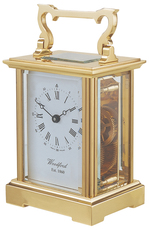 Woodford Brass Anglaise Mechanical Carriage Clock 1412