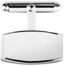Sterling Silver Classic Tonneau Barrel Shape T-Bar Cufflinks 9186