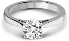 Chalfen of London Emilia Platinum Solitaire 4 Claw Set 0.50ct Diamond Ring