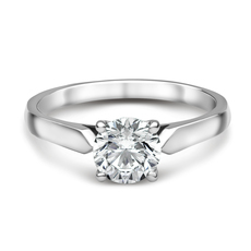 Chalfen of London Hatton Platinum Solitaire 4 Claw Set 0.34ct Diamond Ring
