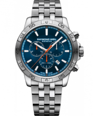 Raymond Weil Tango 300 Blue Dial Stainless Steel Mens Quartz Chronograph Watch 8560-ST2-50001