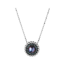 Links of London Sterling Silver, Blue Diamond & Pearl Effervescence Pendant Necklace 5020.3000