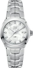 TAG Heuer Link Lady Mother of Pearl Diamond Set Dial Stainless Steel Womens Quartz Watch WBC1312.BA0600