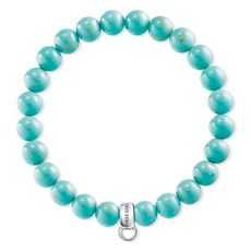 Thomas Sabo Charm Club Simulated Turquoise Sterling Silver Bracelet (15.5cm) X0213-404-17