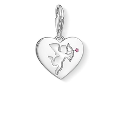 "Thomas Sabo Charm Club Sterling Silver & Ruby ""Heart with Cupid"" Charm 1382-011-10"
