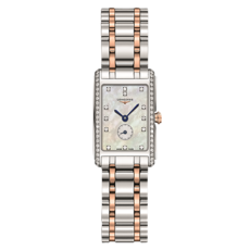 Longines DolceVita Mother of Pearl Dial Diamond Set Two Tone Womens Quartz Watch L52555897